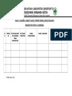 Bukti Tindak Lanjut Hasil Monitoring Dan Evaluasi Indikator Mutu Layanan Klinis Docx