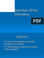 Day 5 - Limit Definition of the Derivative