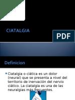 CIATALGIA Analgesia