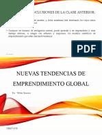 Nuevas Tendencias de Emprendimiento Global