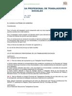 Ley de Defensa Profesional de Trabajadores Sociales