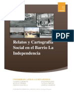 Cartografía Social sobre el barrio La Independencia - Cali, Colombia.