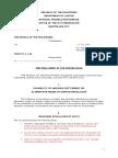 Pre Trial Brief (Petitioner)