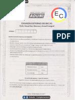 2ec_examen Externo de Becas - Anual Sm y Integral - Aduni - 2017