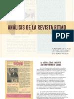 Análisis de artículos sobre la Revista Ritmo