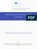 Econimics 2013 Unsolved Paper Delhi Board