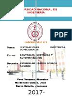 1er Informe- Instalaciones Electricas Domiciliarias