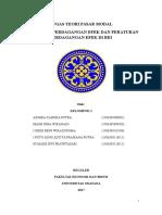 Mekanisme Perdagangan Dan Peraturan Perdagangan Efek Versi 2003
