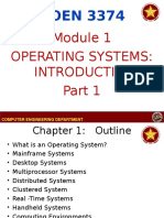 COEN 3374 - Module 1 - Operating System Introduction Part 1