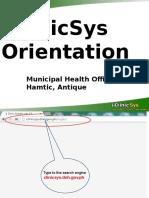 Iclinicsys Orientation