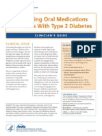 Oral Medications for Adults with Type 2 Diabetes Clinician Guide