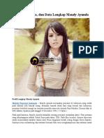Profil, Biodata, Dan Data Lengkap Maudy Ayunda