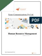 Enser Communications Pvt Ltd HRMS