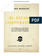 El Estado Corporativo BenitoMussolini