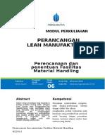 Modul Perancangan Lean Manufacturing [TM6] Penentuan Fasilitas Material Handling