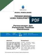 Modul Perancangan Lean Manufacturing [TM7] Penentuan Fasilitas Warehouse