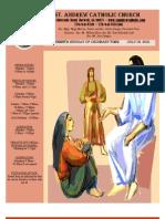 July 18, 2010 Bulletin