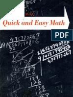 Isaac Asimov - Quick and Easy Math (Rare)