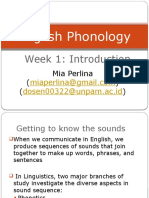Week1 Phonology