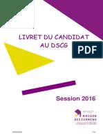 Livret Candidat DSCG 2016