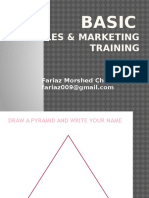 Basic Sales & Marketing Training - Fariaz