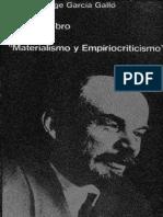 Glosas Sobre El Libro de Lenin 'Materialismo y Empiriocriticismo' - Gaspar Jorge García Galló 1972