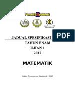 Jsu Matematik Ujian 1 t6 2017