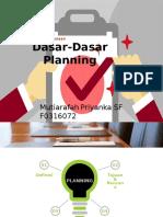 Dasar2 Planning