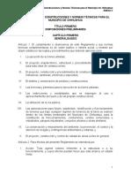 Reglamento de Construcciones y Normas Técnicas Para El Municipio de Chihuahua