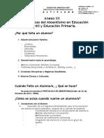 20) Anexo XX Caracteristicas Del Absentismo en Educación Infantil y Primária.