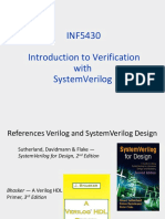 INF5430 Introduction to Verification With SV