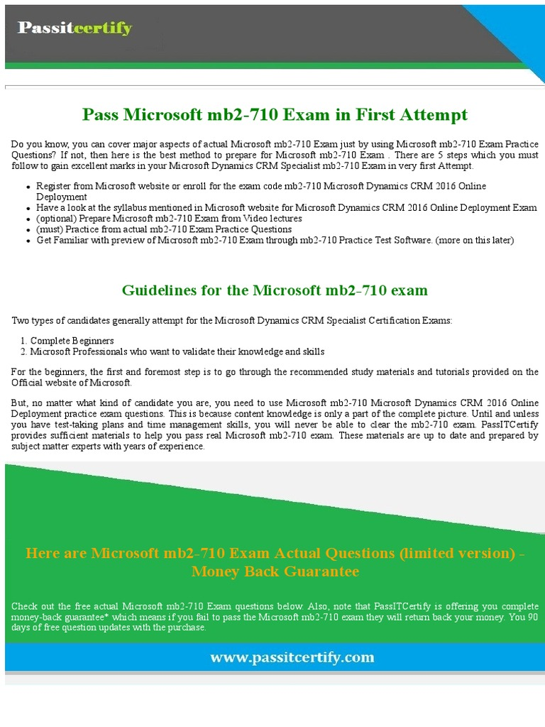 Pass microsoft dynamics crm specialist mb2 710 exam by pass microsoft dynamics crm specialist mb2 710 exam by passitcertify microsoft test assessment xflitez Choice Image