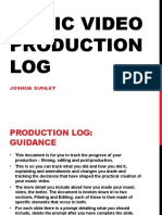 MV Production Log Template