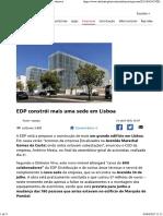 EDP Constrói Mais Uma Sede Em Lisboa