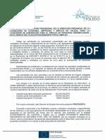 Propuesta de Resolucion Provisional Toledo PEE 2017