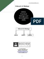 Edexcel A2 Biology 6BI06