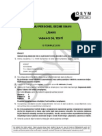 2010-KPSS LİSANS - Yabancı Dil  -İngilizce Soruları