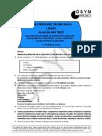 2010-KPSS LİSANS Çalışma Ekonomisi ve Endüstri İlişkileri-Ekonometri-İstatistik-Kamu Yönetimi-Uluslararası İlişkiler Soruları