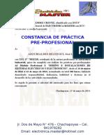Modelo de Constancias de La Practica Pre-profesional