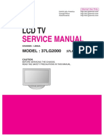 LG 37LG2000 Lcd Tv Service manual