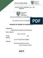 Normas de Ensayos de Materiales Informe