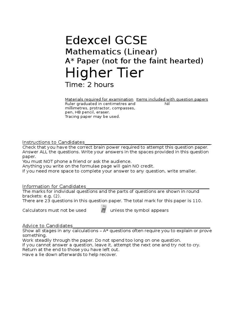 GCSE Astar Paper | Trigonometric Functions | Sine