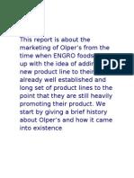 marketing strategies of Olper's.....