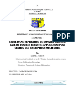 Etude de La Replication Des Donnees