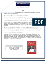 Gout foods to avoid information sheet