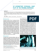 A Rare Cause of Intermittent Dysphagia - Giant Fibrovascular Polyp of the Proximal Esophagus