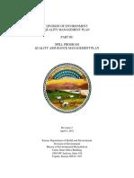 Oil Spill Quality Management Plan