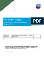 Wheatstone Project Oil Spill Environmental Response Plan