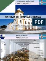 Sistemas de limpeza Urbana - Legislação aplicada