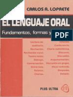 El Lenguaje Oral